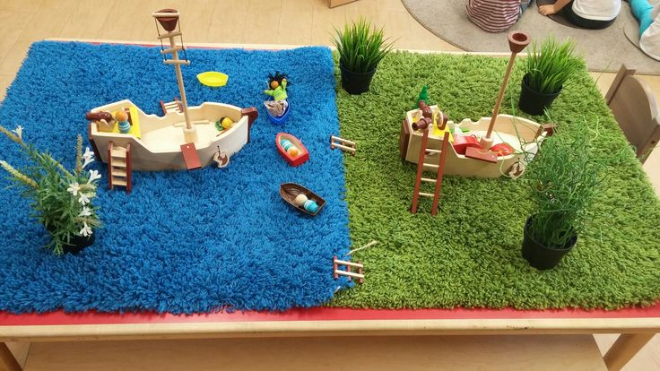 Boats and Pirots provocation Ocean Theme