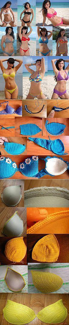 Cómo crochet esquemas traje de baño?