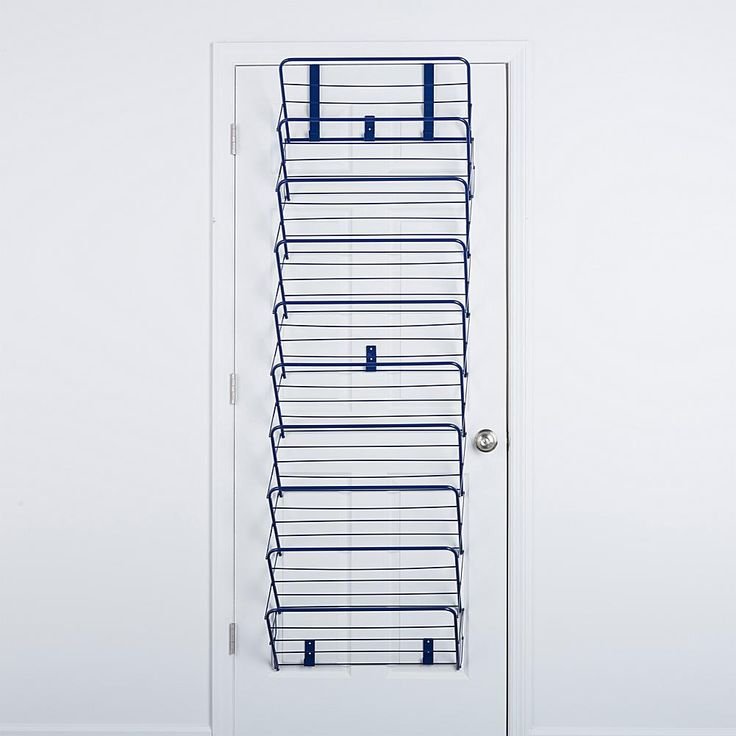 Origami Over-the-Door Foldable Shoe Rack - Blue