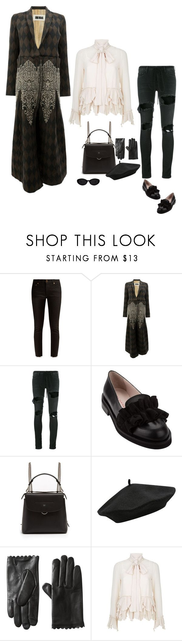 """""""Untitled #6799"""" by lovetodrinktea ❤ liked on Polyvore featuring Khaite, Uma Wang, Off-White, Minna Parikka, Fendi, M&Co and See by Chloé"""