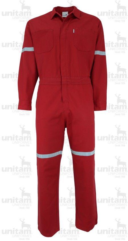OVEROL GABARDINA 100% ALG. con cinta reflejante #Ropa de #Trabajo #Industrial #Uniforme