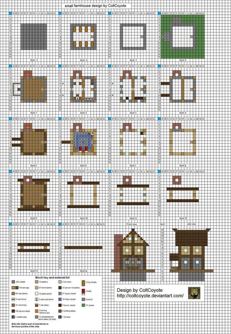 арт строения для майнкрафт схемы план скриншоты файл schematic #6