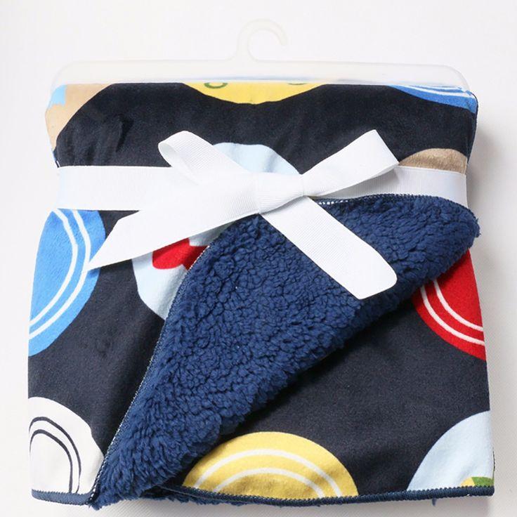 Плюшевые одеяла Детские сгущает двойной слой детские пеленание bebe коляска обернуть конверт для новорожденных детское постельное белье одеяло B25