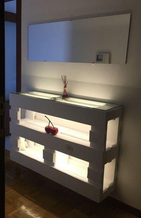 Mal Eine Andere Idee Für Eine Palette. Mit Glas Oder Acryplatten Die  Fachböden Gestalten Und