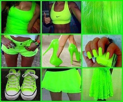 Neon green collection. ♥