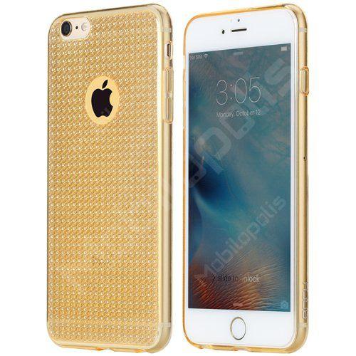 Třpytivý kryt na iPhone 6 Plus, 6s Plus - ROCK Fla series RQ001 zlatý | Mobilopolis.cz