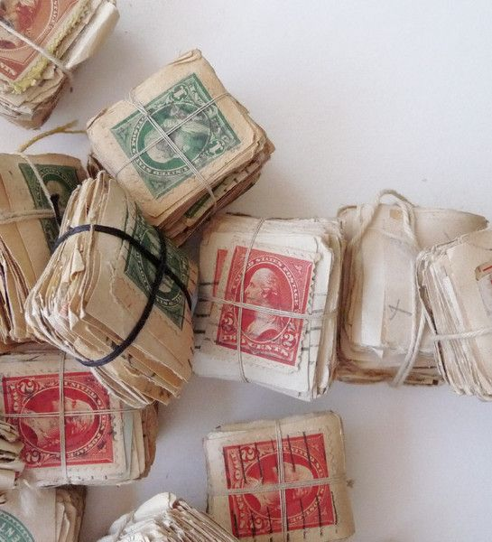 stamps treasure from Angela Liguori - been wondering what to do with that old stamp collection. maybe this is it.