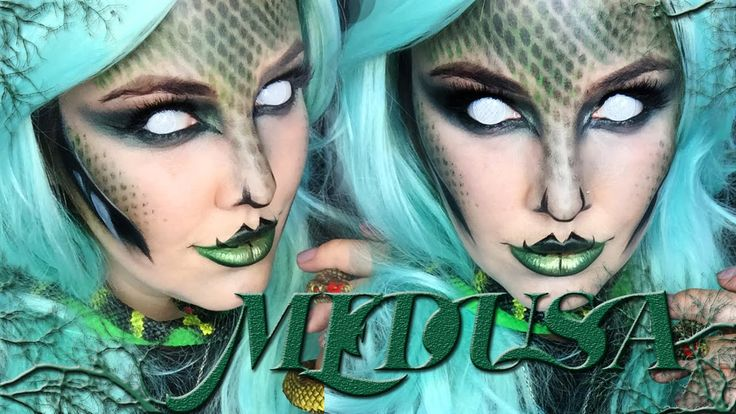 Medusa Makeup Tutorial!                                                                                                                                                                                 More