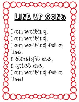 You will find 4 transitional songs to use in your early childhood classroom. Some of these are songs that I have made up and others have been taught to me by other teachers over the years. I find that singing helps transitions through out the day. You can print these cute song pages so that you always have them handy during transitions! 1 Line up song 1 Stairs song 1 Follow me song 1 Good bye song