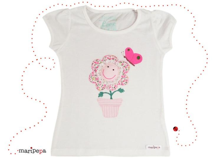 maripepa camiseta para niña cosida a mano