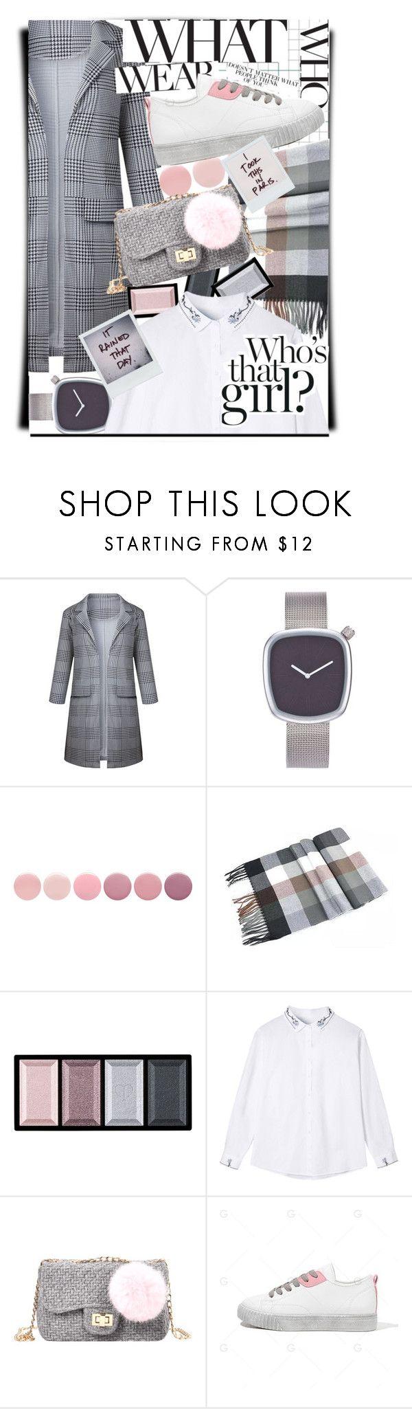 """Gray fashion rhapsody,sing me that melody🌫"" by jelena-bozovic-1 on Polyvore featuring Deborah Lippmann, Clé de Peau Beauté, Who What Wear, Gwyneth Shoes and Polaroid"