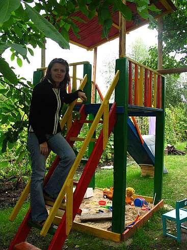 Детская площадка  на даче. Воплощенный проект (Черкассы, Украина)