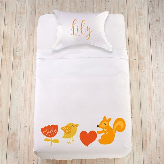 Kids duvet set Animal duvet cover Fun toddler bedding Kids bedset Custom kids bedding set Queen King size bedding with name Cute bedding set   Lovely baby shower, birthday gift or a sweet surprise on any other joyful occasion! Bedding is always an incredibly useful gift; all sets are