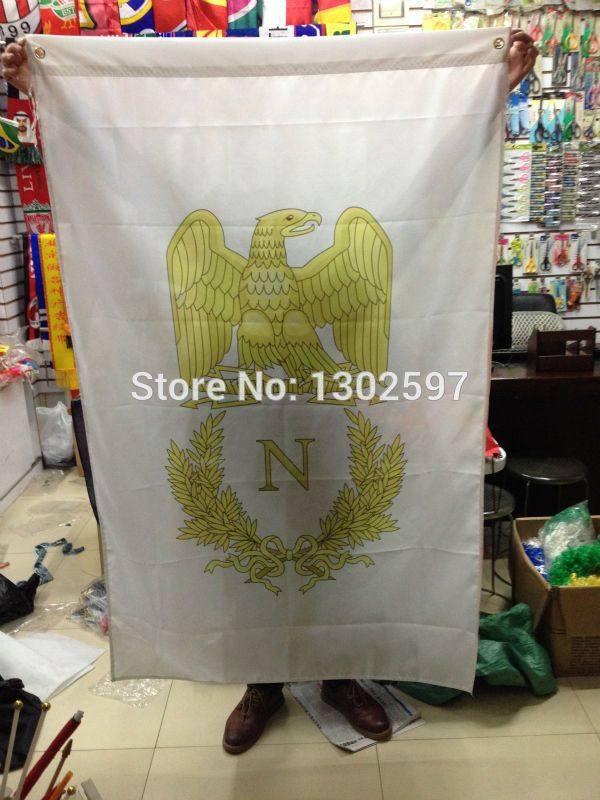shipping First French Empire flag /Napoleon/ Banner 150x90cm Big Flag for Celebration