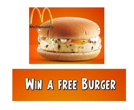 Free McEGG, McGrill or McAloo Tikki Burger from McDonald's
