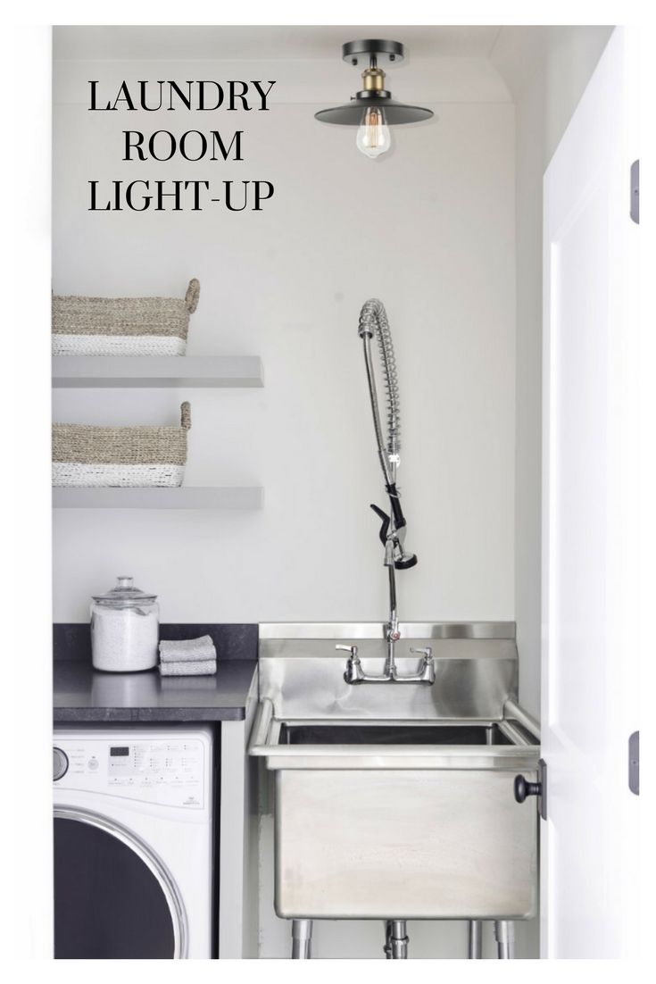 This Semi Flush Light Fixture Brightens Your Laundry Room With