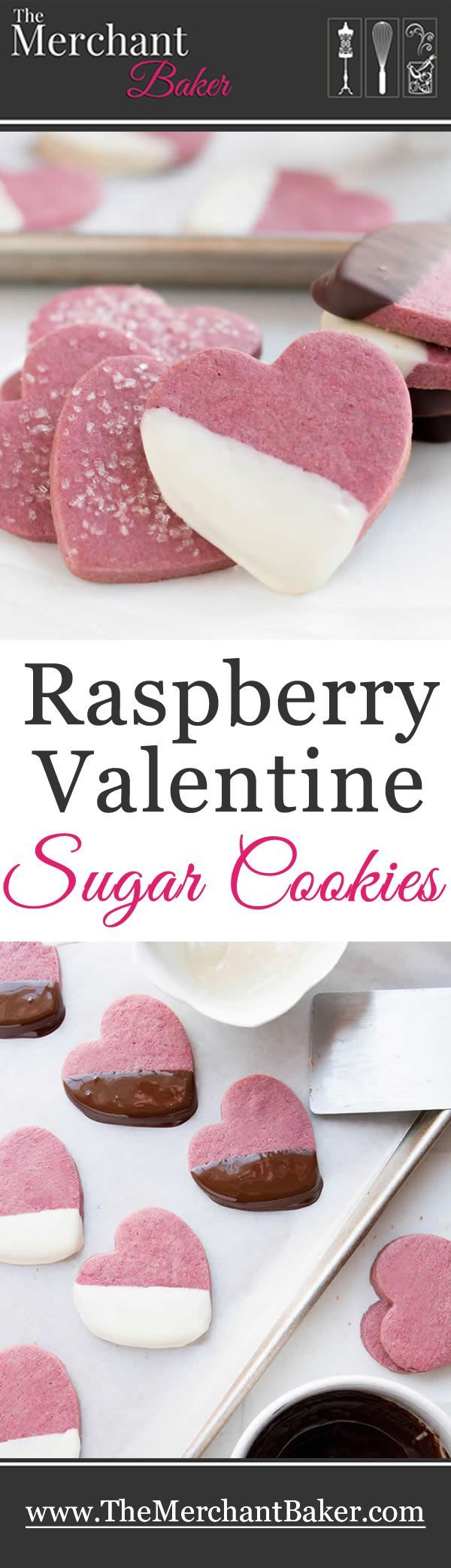 Raspberry Valentine Sugar Cookies. Real raspberries add lots of natural color and flavor in this delicious twist on traditional sugar cookies.