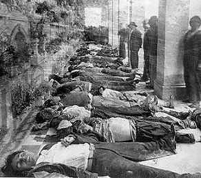 Esta es una foto de muertos por causa de La Violencia de Colombia. Fue tomada durante la epoca comenzando 1948-1958. La guerra que duro approx. diez anos y todavia es presente en colombia.