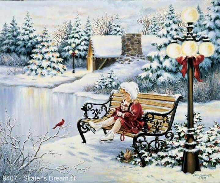 95 best Christmas Paintings and Cards images on Pinterest ...