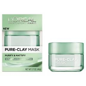 L'Oreal® Paris Pure-Clay Mask Purify & Mattify - 1.7oz : Target