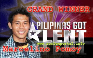 Marcelito Pomoy is a male singer from Imus, Cavite, known for singing in both tenor and soprano. He is the grand winner of Pilipinas Got Talent (season 2)