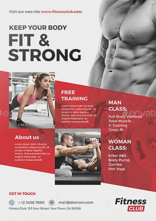473 best Awesome Featured Flyer Templates images on Pinterest - fitness flyer template