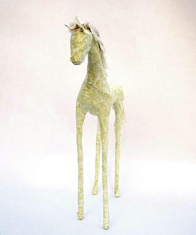 Paper mache horse...