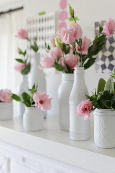Яркие вазы из стеклянных бутылок своими руками: красим изнутри | Элементы декора | DecorWind.ru