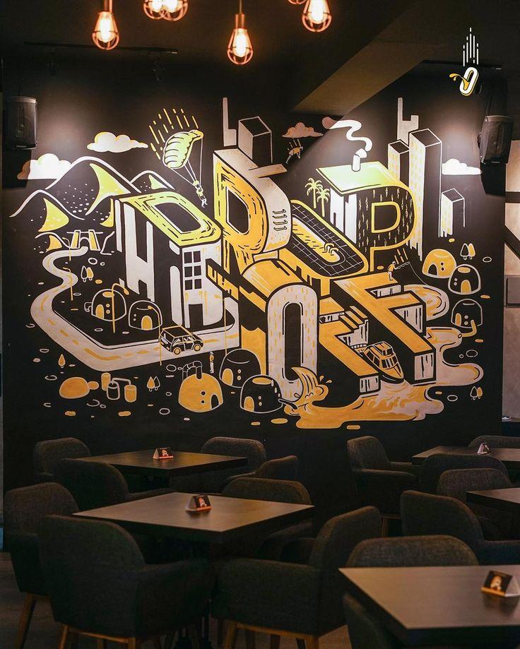 Jasa Mural, Jasa Lukis Dinding, Jasa Mural Cafe, Jasa Mural Restoran, Mural Cafe, Jasa Mural Tangerang, Drop Off Kitchen Bar, Drop Off