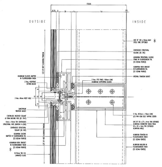 Kimmel Center Glass Curtain Wall Detail : Curtain wall base detail integralbook