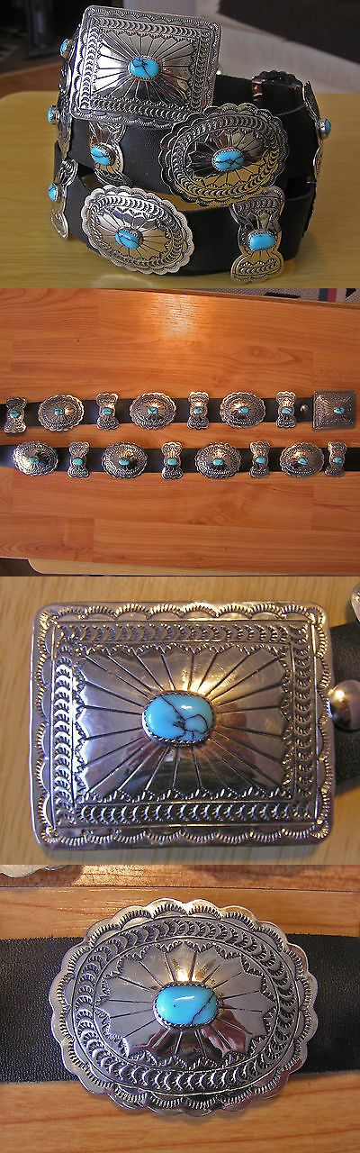 Other Native American Jewelry 11315: Gorgeous Navajo Indian Handmade Turquoise And Nickel Silver Concho Belt. Kayonnie BUY IT NOW ONLY: $219.99