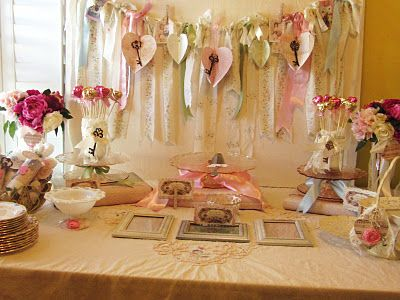 lots of Valentine ideas. very shabby chic