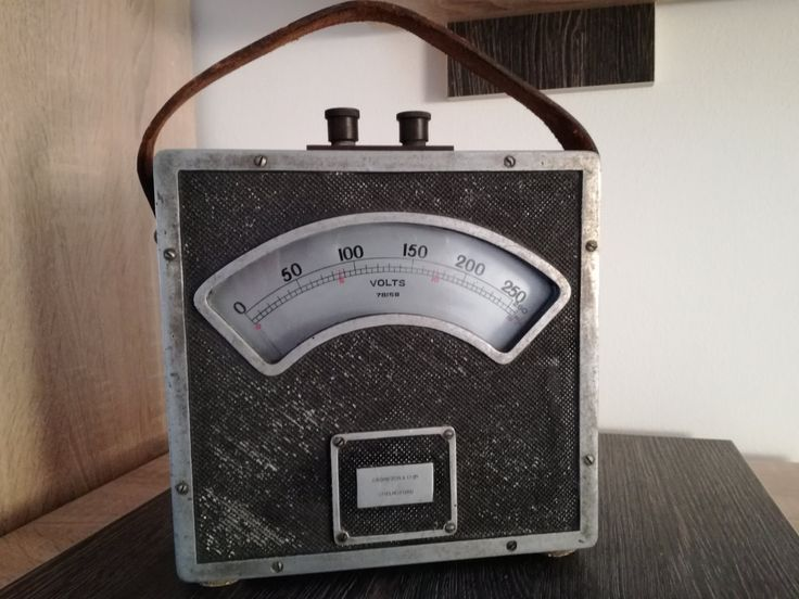 Very old antique volt meter, CROMPTON & CO - England. 1900 by MWKIRKonETSY on Etsy