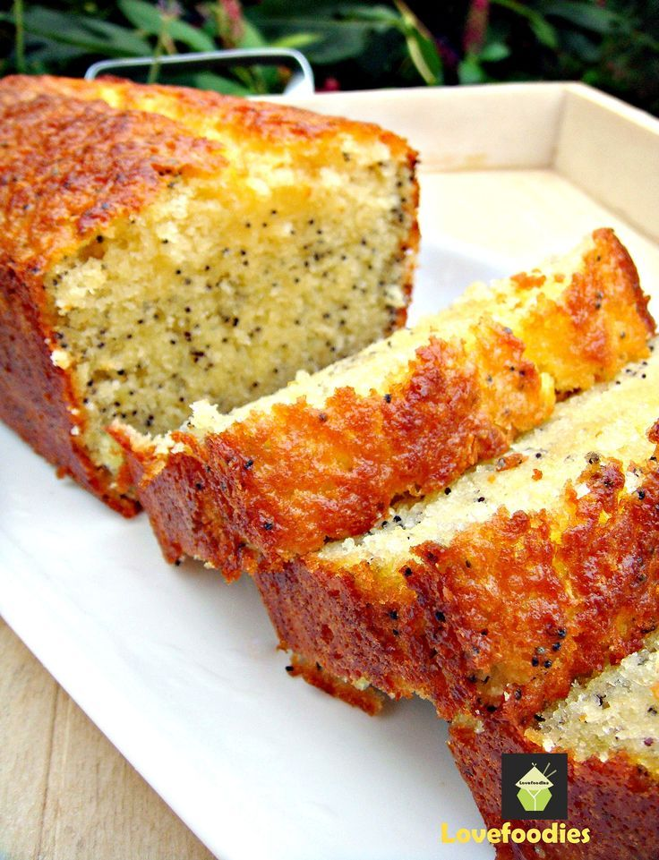 Moist Lemon & Poppy Seed Loaf.  A wonderful gentle flavored, soft cake