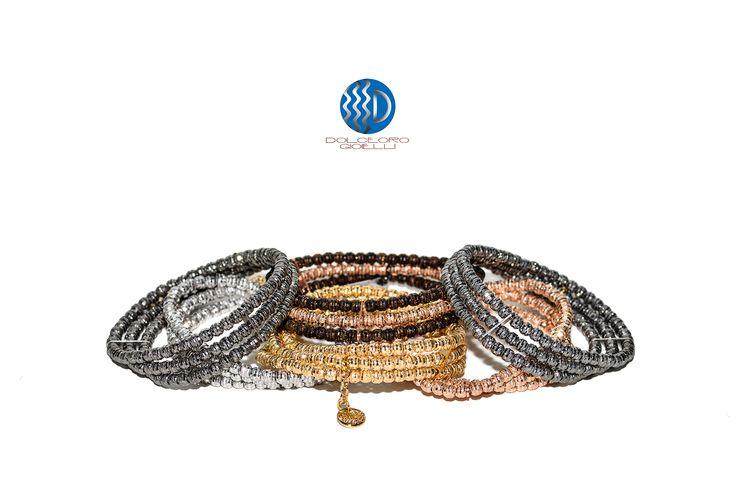 Dolceoro Set of Three Sterling Silver Bracelets