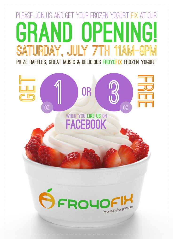 Grand Opening Flyer (Front) Grand opening, Store flyers