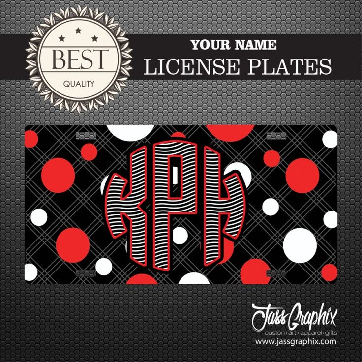 "#Zebra #Stripe License Plate with #Polka Dots. #Personalized Car Tag – Zebra Stripe License Plate with Polka Dots Universal Fit 6"" x 12"" Aluminum License Plate Personalized #Monogrammed Cute Car Tag UV High Gloss Vibrant Colors"
