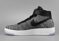 Купить Мужские высокие кроссовки Nike Air Force 1 Ultra Flyknit (Найк Аир Форс) серые в Украине | Киев★