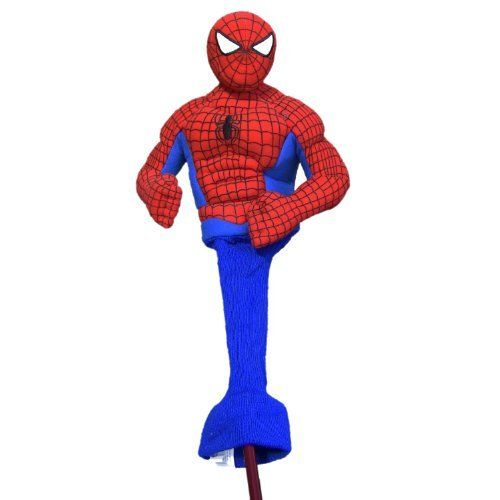 """Spiderman Performance Headcover by Creative Covers for Golf. Save 12 Off!. $28.49. Increase your """"Spidey"""" sense on the green and power up your super strength for a super hero drive with the Amazing Spider-Man 460cc Driver Golf Headcover.  This high quality head cover is designed to fit drivers and woods up to 460cc. Reinforced stitching and extra padding protects and keeps your clubs safe from bad guys."""