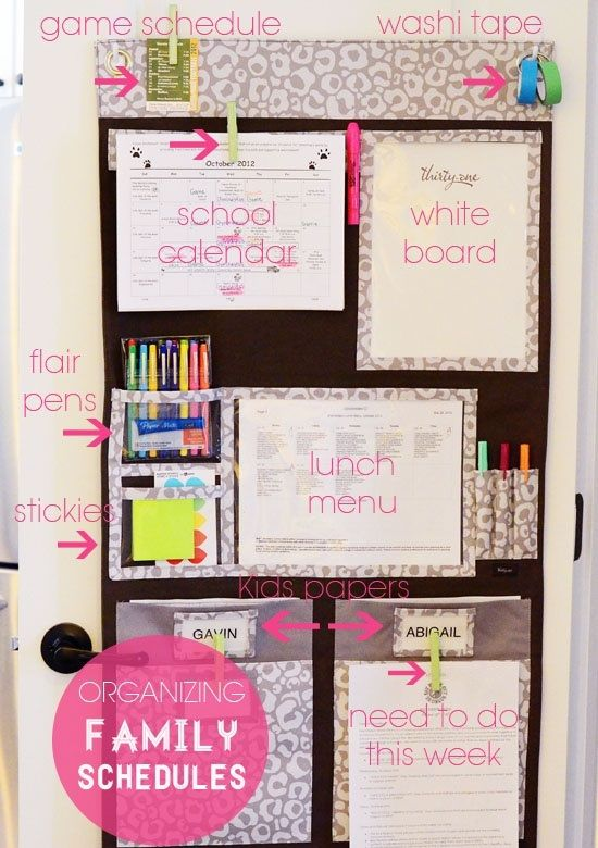 Organizing Family Schedules-there's a Thirty One product for that! The Hang Up Home Organizer! I have one and love it!  mythirtyone.com/alysesimons/