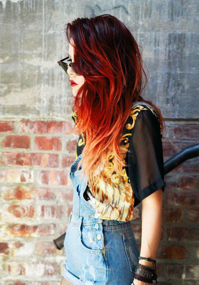 """La nouvelle tendance du Fire Hair """"grunge"""" qui fait fureur! - Marie Claire"""