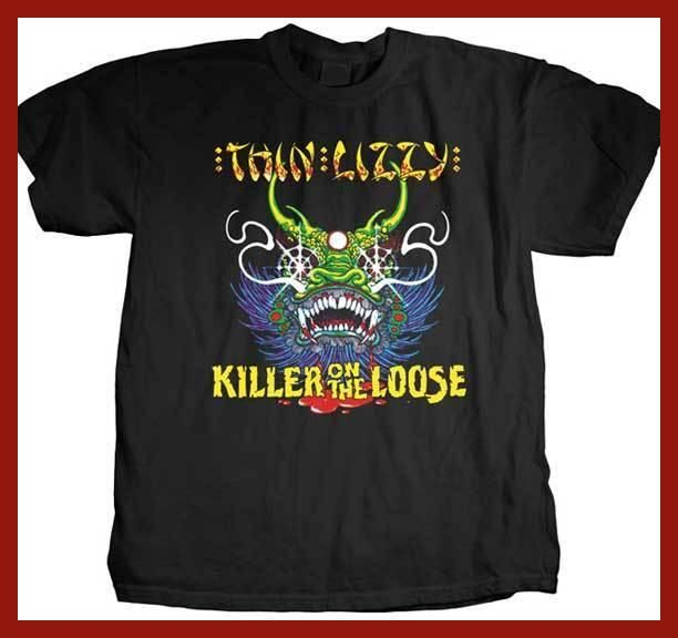 FL&AEVVE THIN LIZZY Killer On The Loose T SHIRT Brand New Official T Shirt camisetas frikis baratas