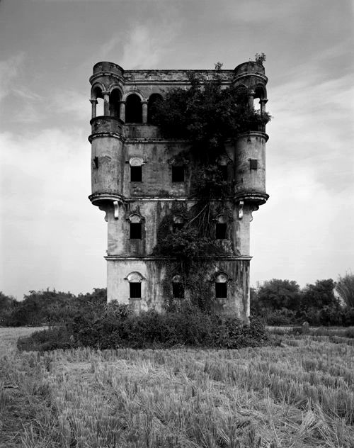 Abandoned Building Black and White