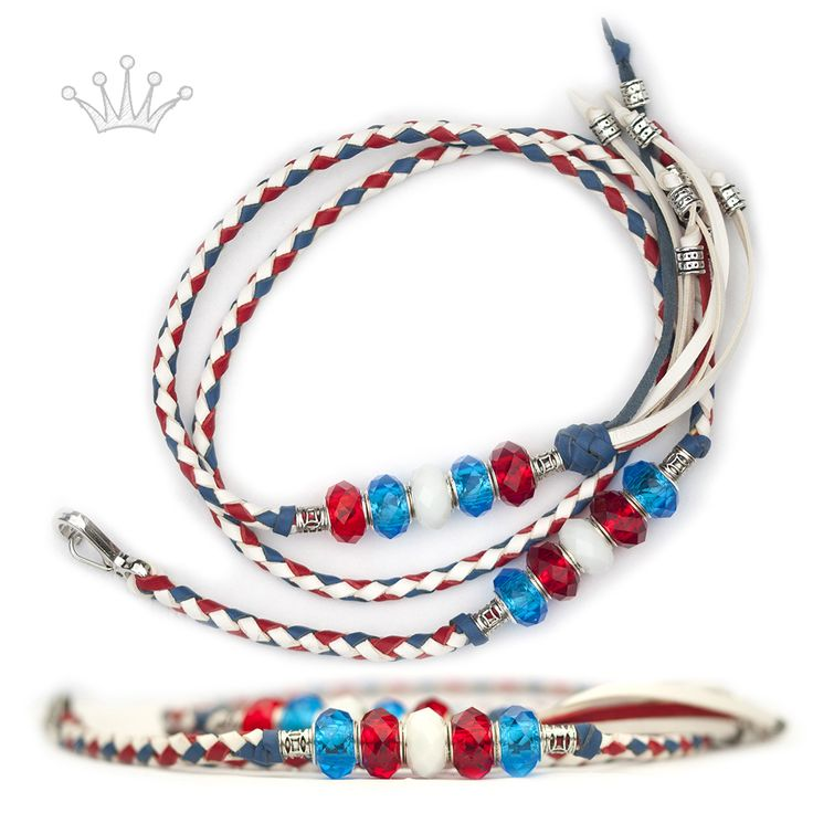 FOR SALE! Kangaroo leather show lead in white, blue & red. Interested? Visit my Etsy page for more information! #showlead #showleads #showleash #dogshow #emoticon #emoticonleads #emoticonshowleads #kangarooleather #showdog #customlead #customshowlead #dogshows #utställningskoppel #kangarooleatherlead #dogshowlead