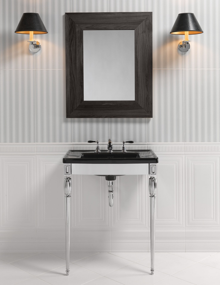 Troon Basin Stand with Black Shefford Vanity Basin www.sinkandtap.com.au