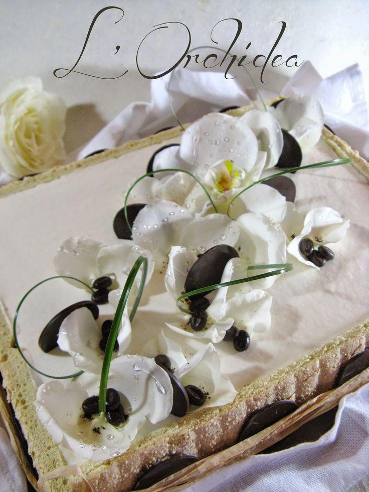 J'en reprendrai bien un bout...: L' Orchidea - entremets Vanille/café -