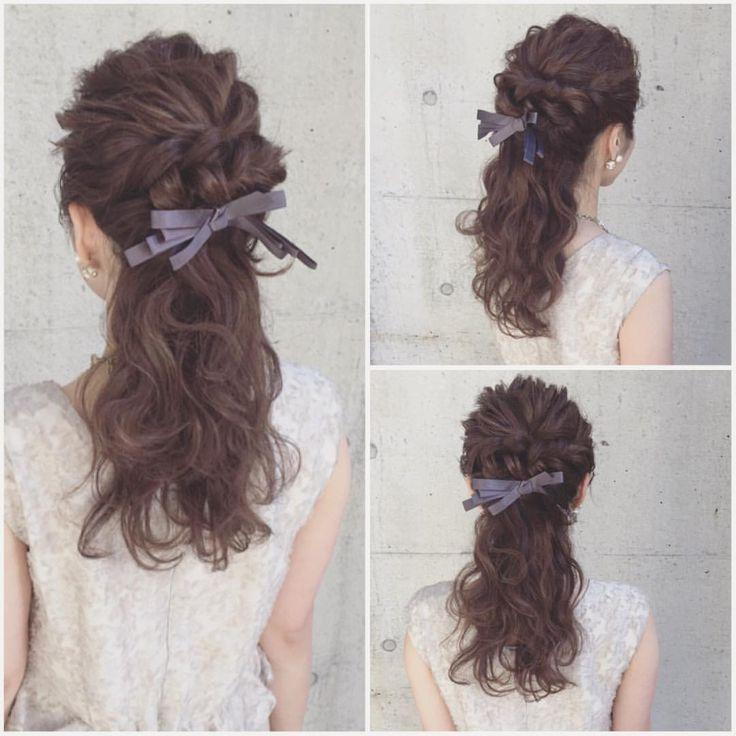 hairarrange♡  #ヘアアレンジ #ヘアセット #結婚式 #パーティー #二次会 #ブライダル #ウェディング #東京 #表参道