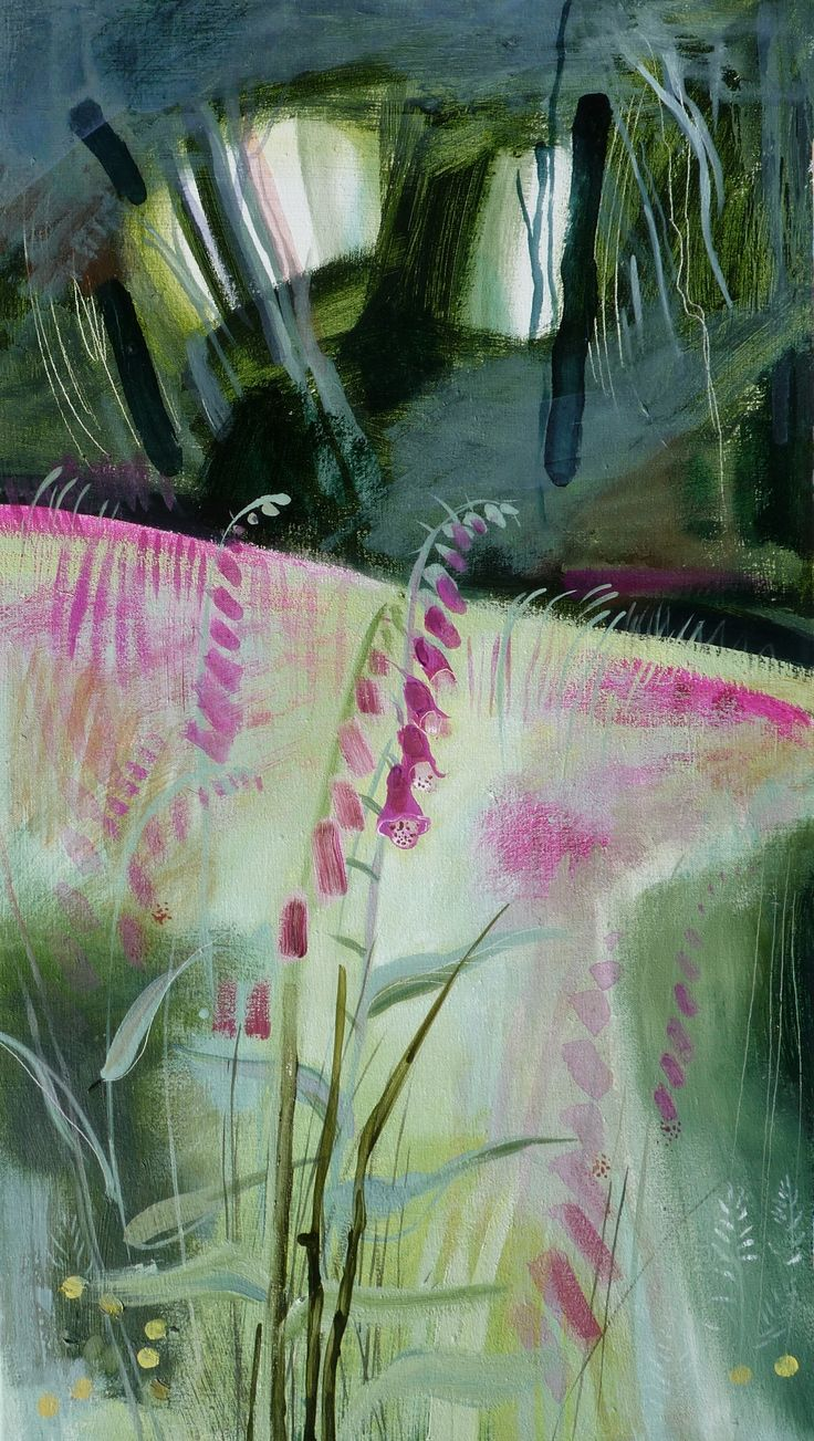 Foxglove wood, oil on canvas by Kate Penoyre