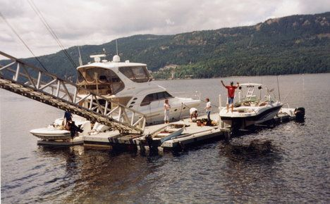 Private Floating Structures for Boat Moorage | International Marine Floatation Systems