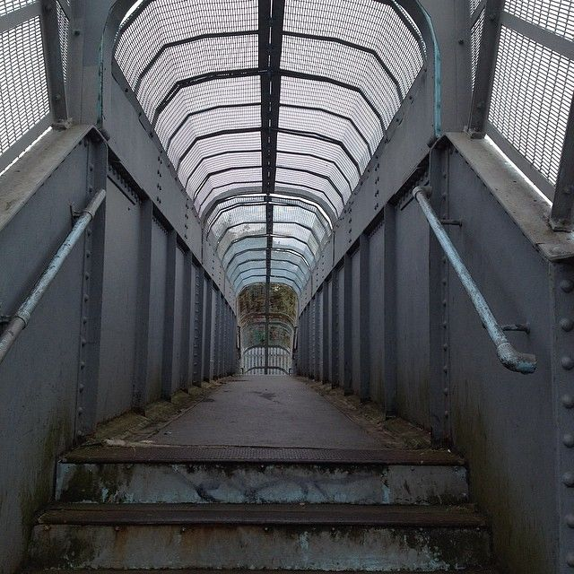 Footbridge over the District Line in Dagenham #essex